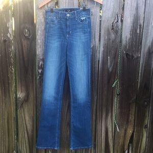 Hollister Women High Rise Bootcut Jeans Size 0 NWT